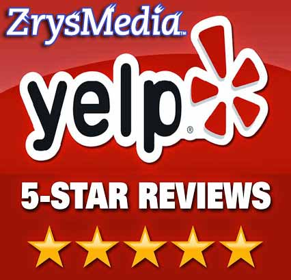 Sacramento SEO Company ZrysMedia has 5 Stars on Yelp. We are Local SEO experts with proof to back it up.