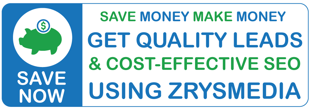 Cost-effective SEO - Save money using ZrysMedia SEO services