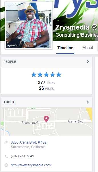 5-Star Facebook Reviews for Sacramento SEO Company, ZrysMedia