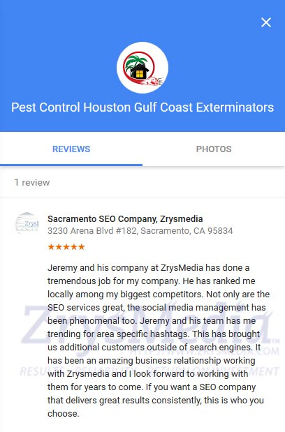 Gcepests.com Review of Zrysmedia