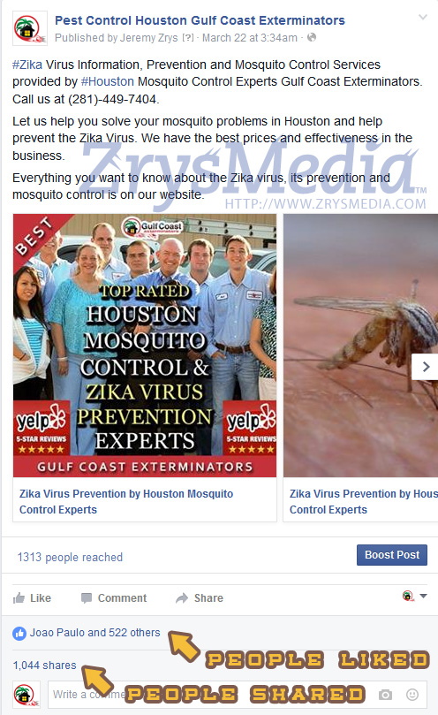 Internet Marketing In action using Facebook for Client