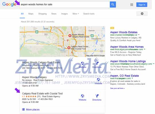 Real Estate Local SEO Example