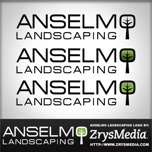 Anselmo Landscaping Logo - Graphic Design Services based in Sacramento by ZrysMedia