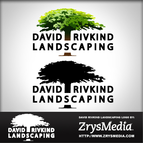 David Rivkind Landscaping Logo - Graphic Design Services based in Sacramento by ZrysMedia