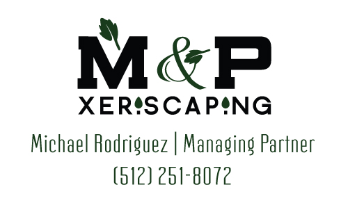 M & P Xeriscaping Landscaping business card - Graphic Design Services based in Sacramento by ZrysMedia