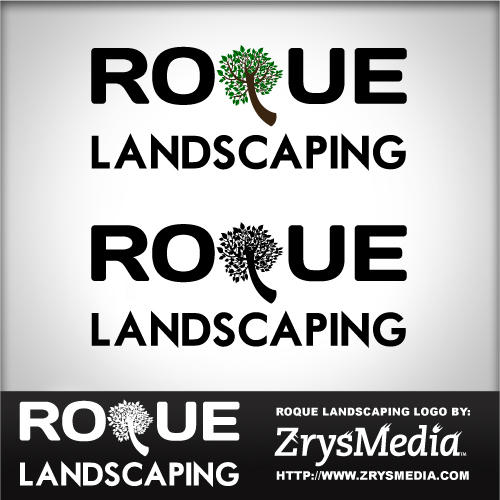 Roque Landscaping Logo - Graphic Design Services based in Sacramento by ZrysMedia